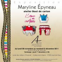 Exposition Espace Créateur du Lycée Arsonval  , Maryline Epyneau Maryline imagine ...Atelier bout de carton